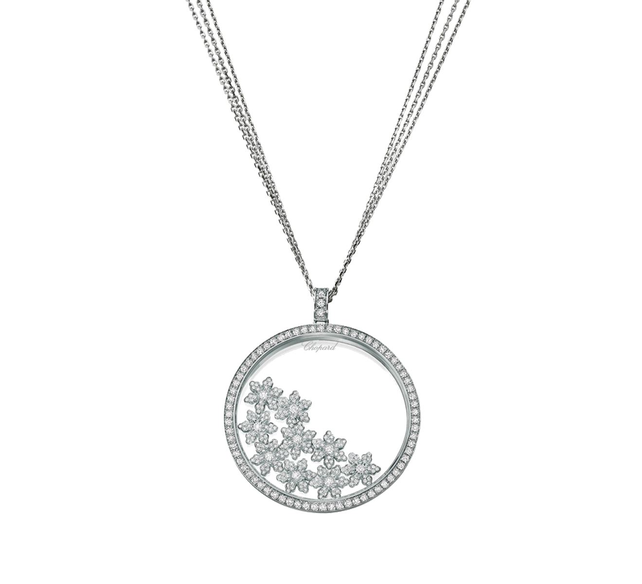 Кулон Happy Snow Chopard Happy Diamonds 795759-1003 - фото 1 – Mercury