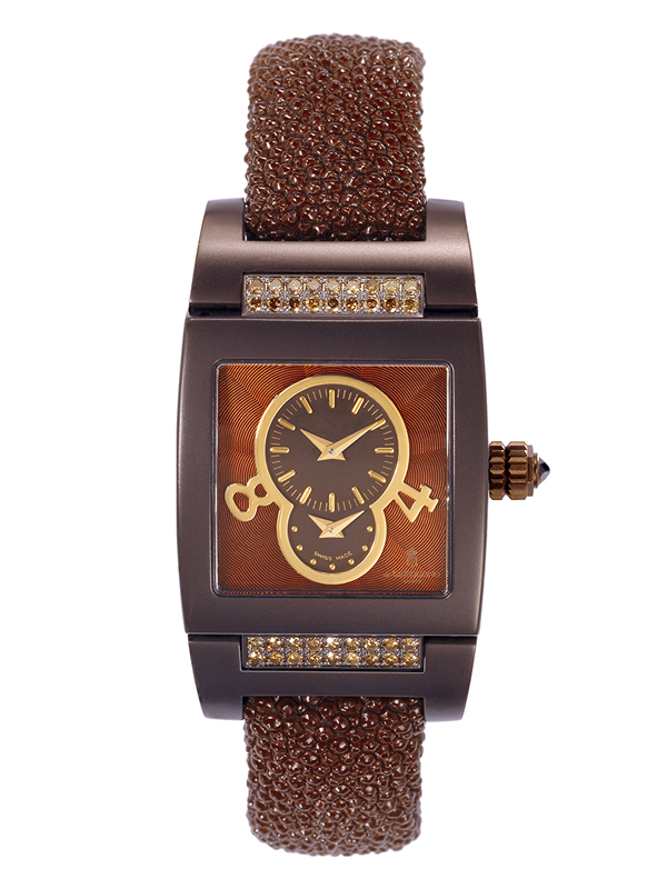 Часы Dual Time Brown Matt