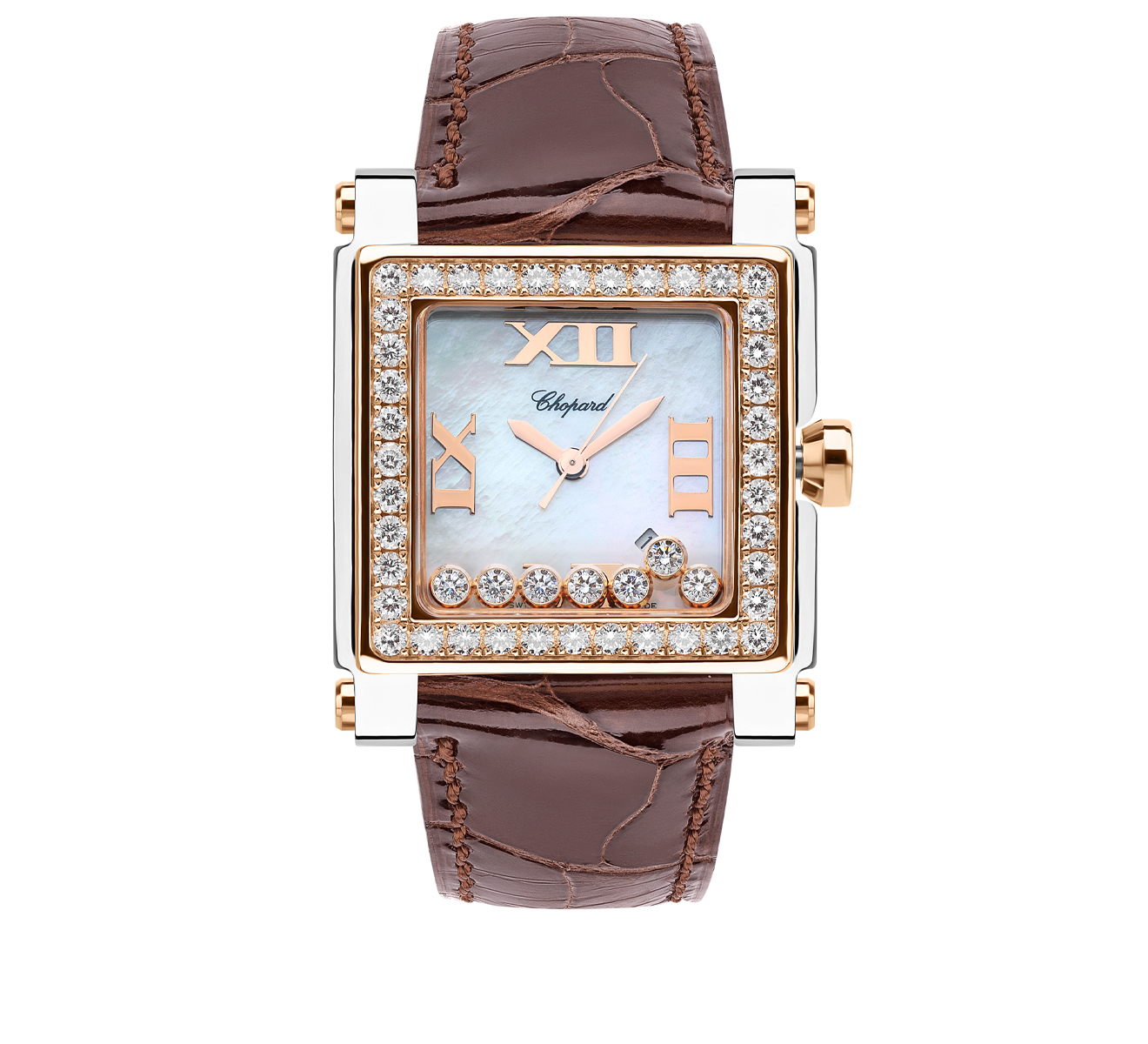 Часы Happy Sport Square Chopard Happy Sport 278497-9002 - фото 1 – Mercury