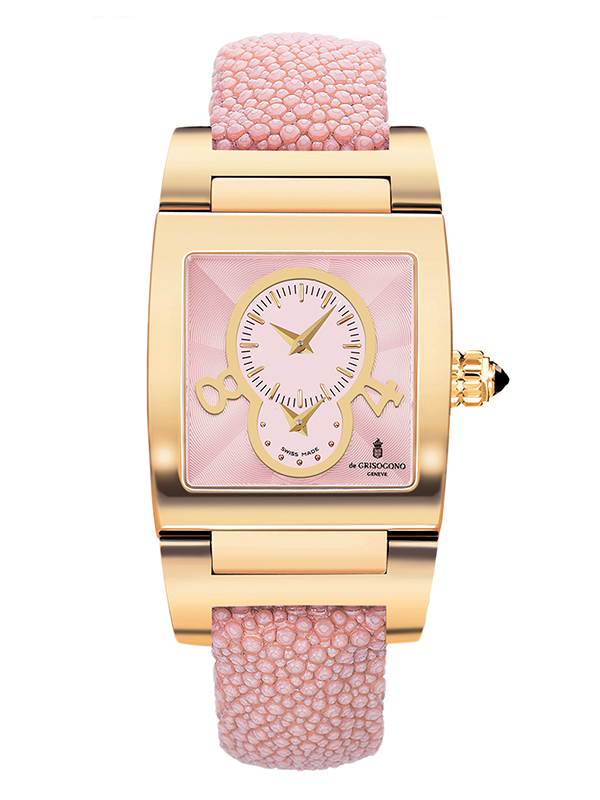 Часы Dual Time Yellow Gold