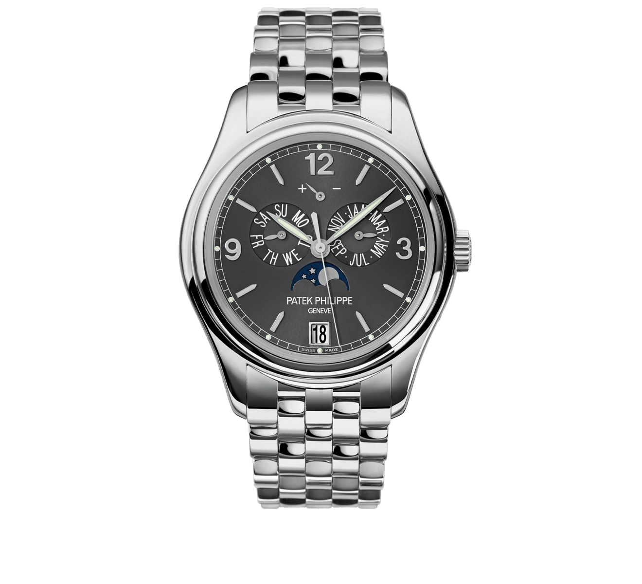 Часы White Gold Annual Calendar PATEK PHILIPPE Complications 5146/1 G-010 - фото 1 – Mercury