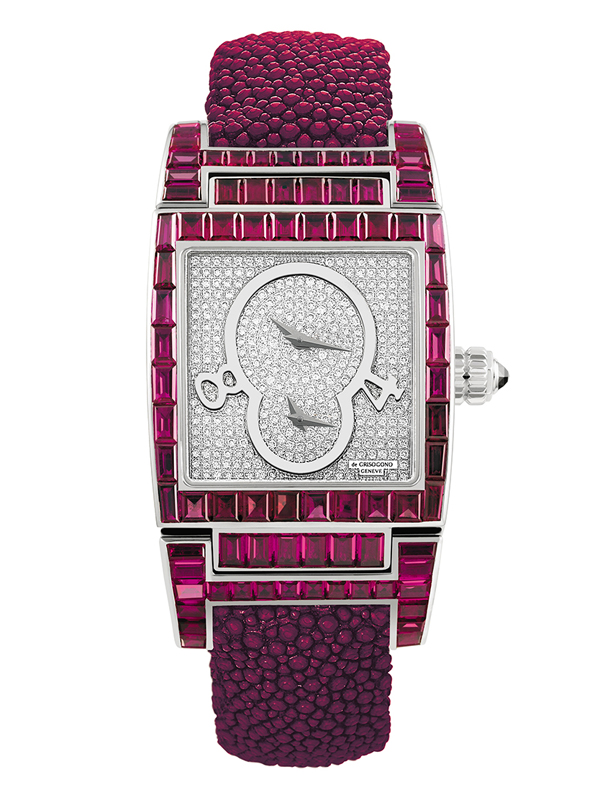 Часы Dual Time White Gold Rubies