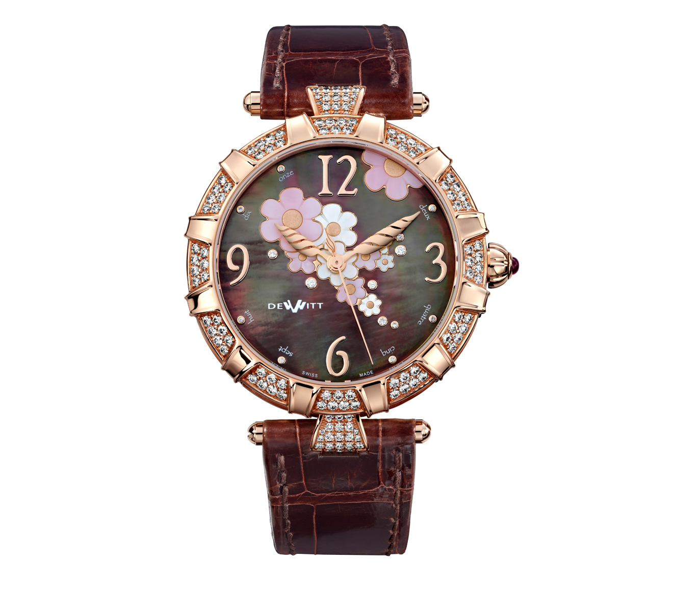 Часы Automatic Rose Gold Brown Pearl DEWITT Golden Afternoon GA.AU.001 - фото 1 – Mercury