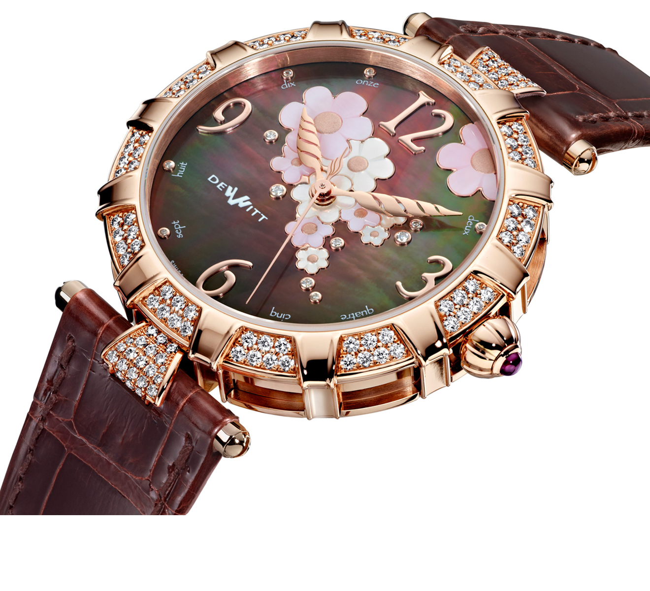 Часы Automatic Rose Gold Brown Pearl DEWITT Golden Afternoon GA.AU.001 - фото 2 – Mercury