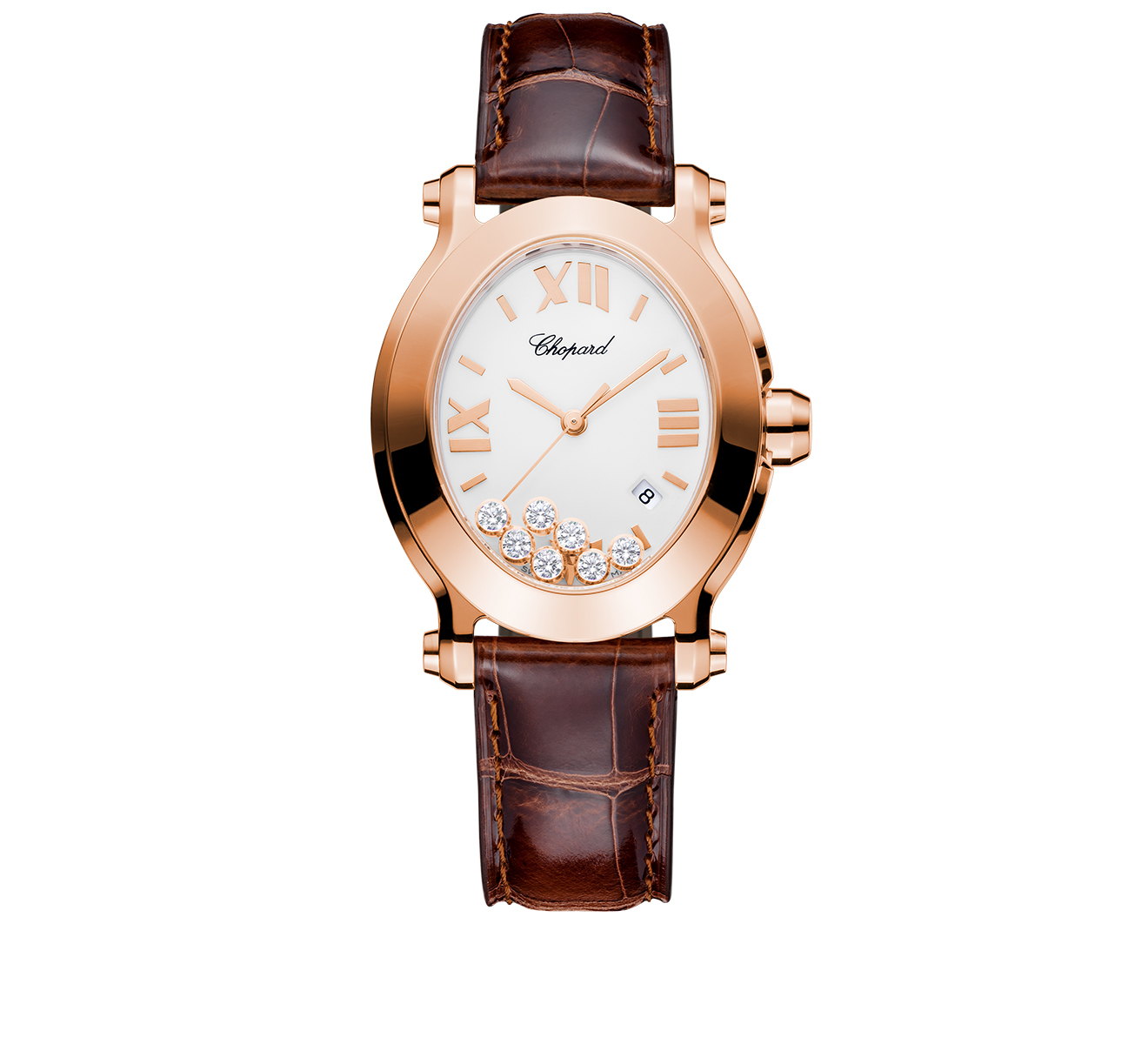 Часы Happy Sport Oval Chopard Happy Sport 275350-5001 - фото 1 – Mercury