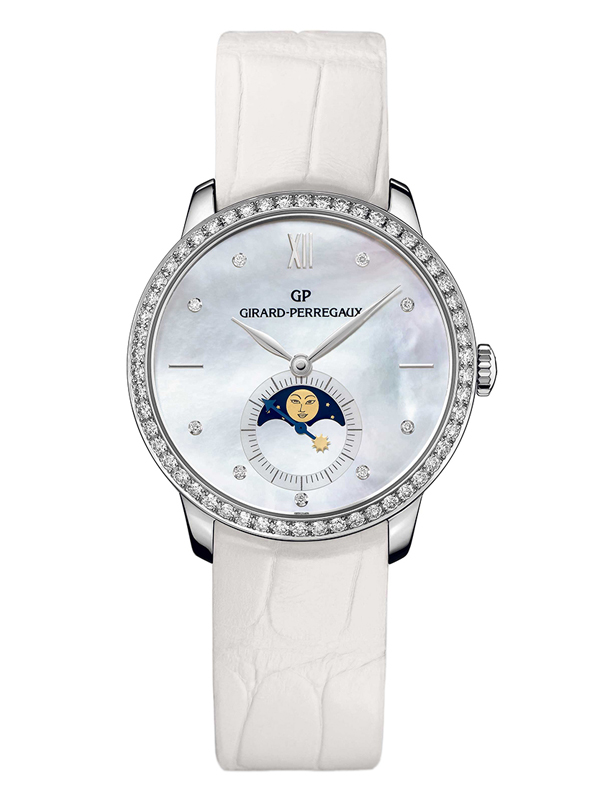 Часы White Gold Moon Phase Pearl