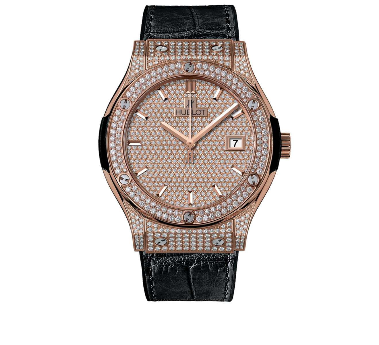 Часы King Gold Full Pave HUBLOT Classic Fusion 542.OX.9010.LR.1704 - фото 1 – Mercury