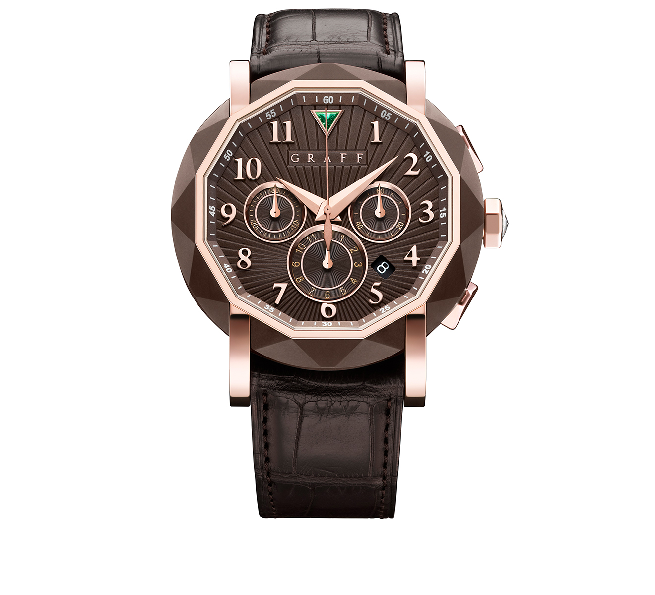 Часы Steel Rose Gold Chronograph GRAFF ChronoGraff CG45DLCCPGC - фото 1 – Mercury