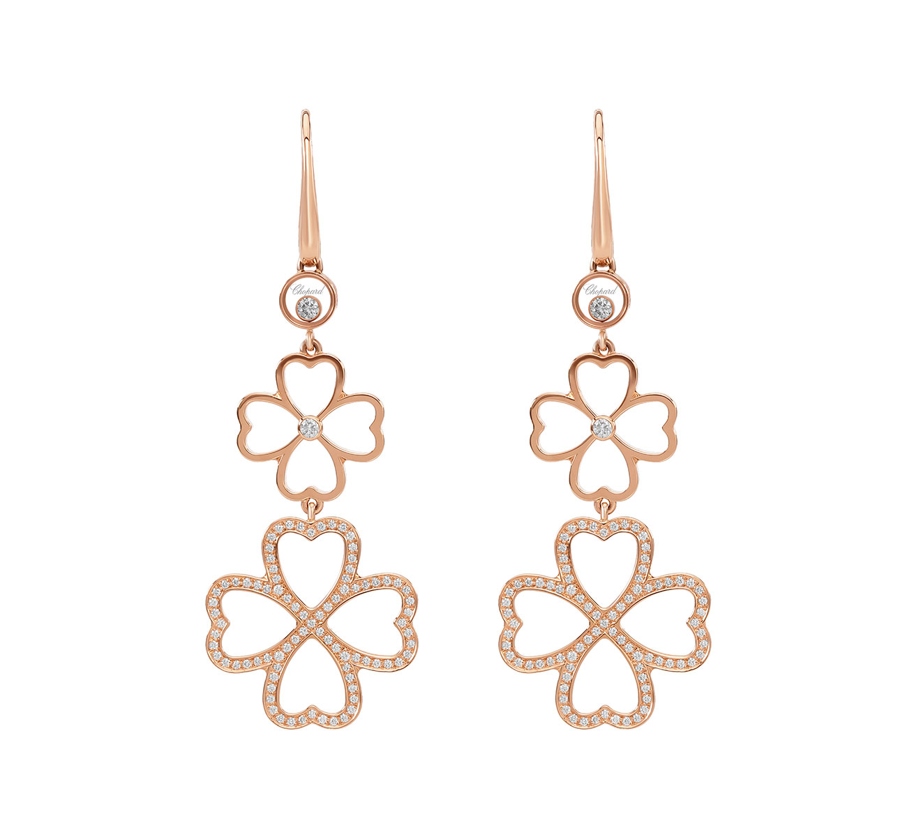 Серьги Happy Clover Chopard Happy Diamonds 839422-5001 - фото 1 – Mercury
