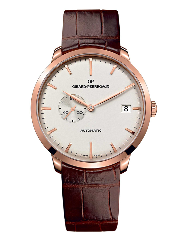 Часы Rose Gold Date White