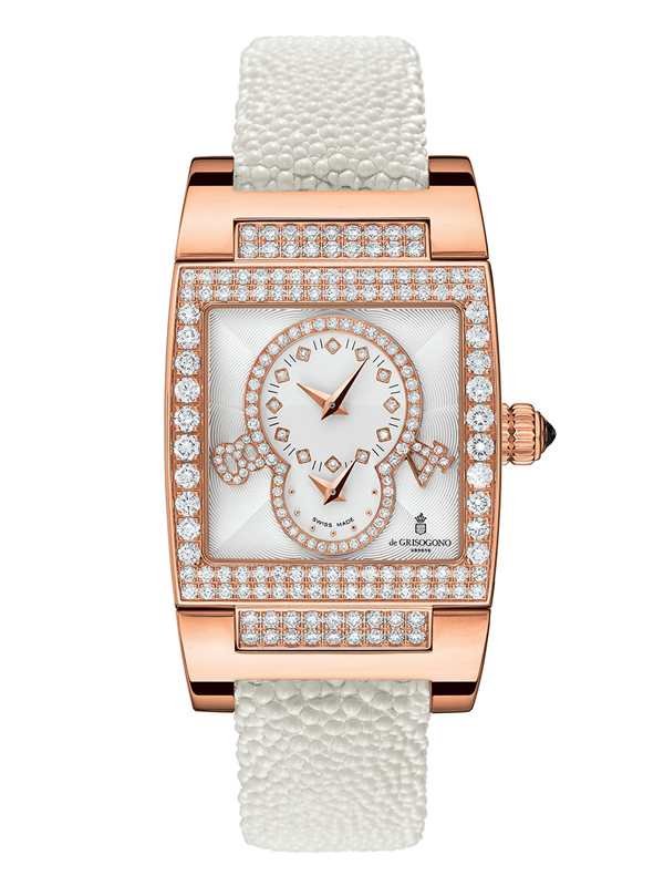 Часы Dual Time Rose Gold