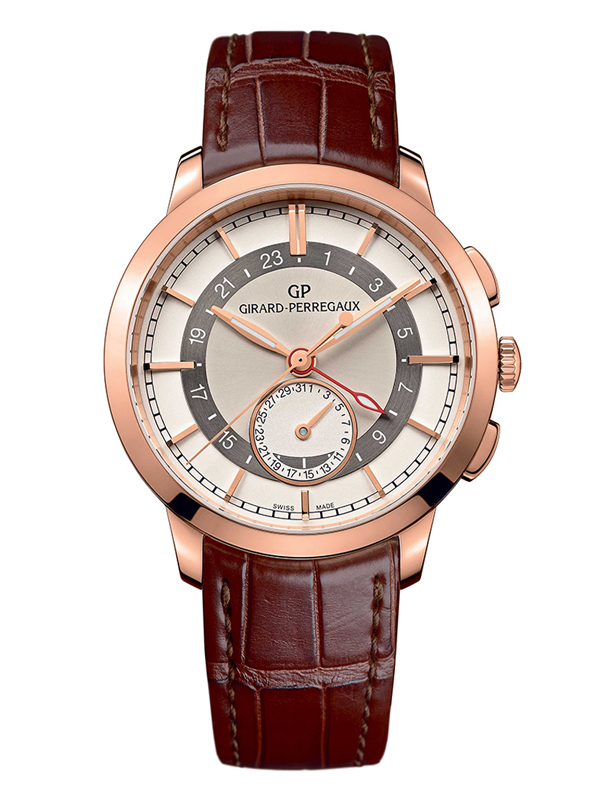 Часы Dual Time Rose Gold Cream