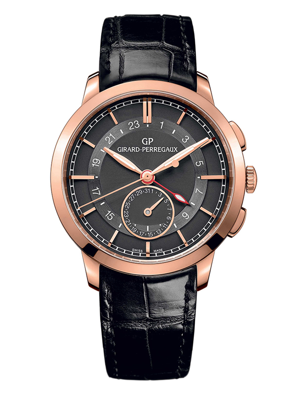Часы Dual Time Rose Gold Grey