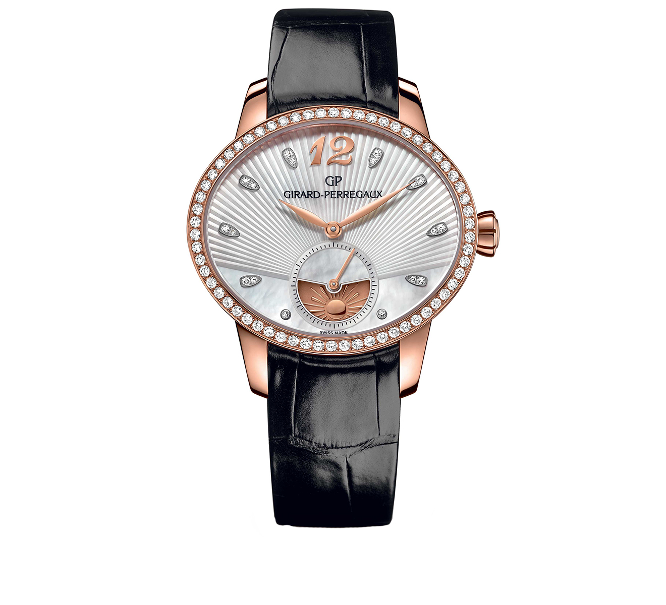 Часы Day and Night Rose Gold Pearl GIRARD-PERREGAUX Cat's Eye 80488D52A751-CK6A - фото 1 – Mercury