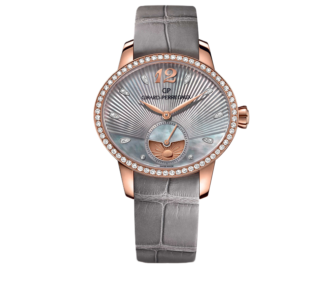 Часы Day and Night Rose Gold Grey GIRARD-PERREGAUX Cat's Eye 80488D52A251-CK2A - фото 1 – Mercury
