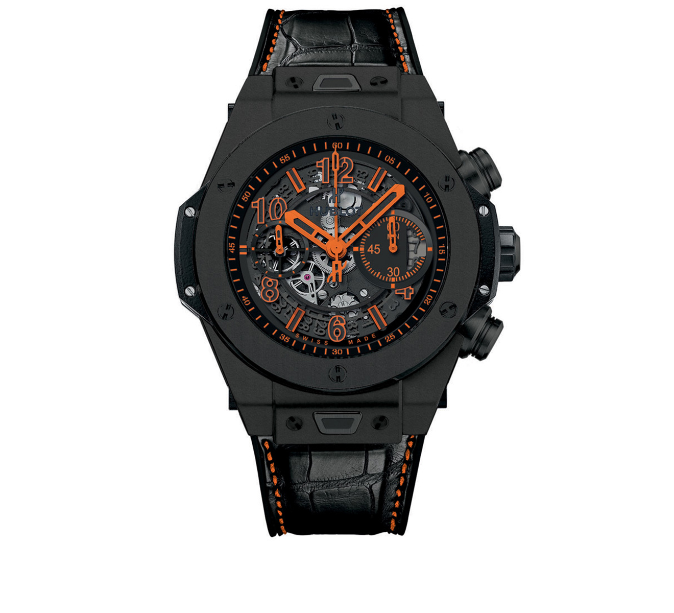 Часы Unico All Black Orange HUBLOT Big Bang 411.CI.1190.LR.ABO14 - фото 1 – Mercury