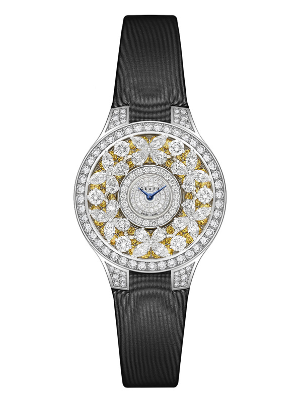 Часы Classic Butterfly Yellow Diamond