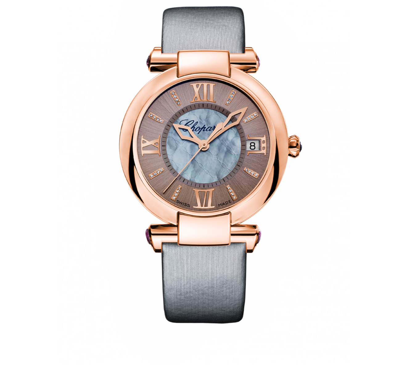 Часы Rose Gold Date Grey Chopard Imperiale 384822-5005 - фото 1 – Mercury