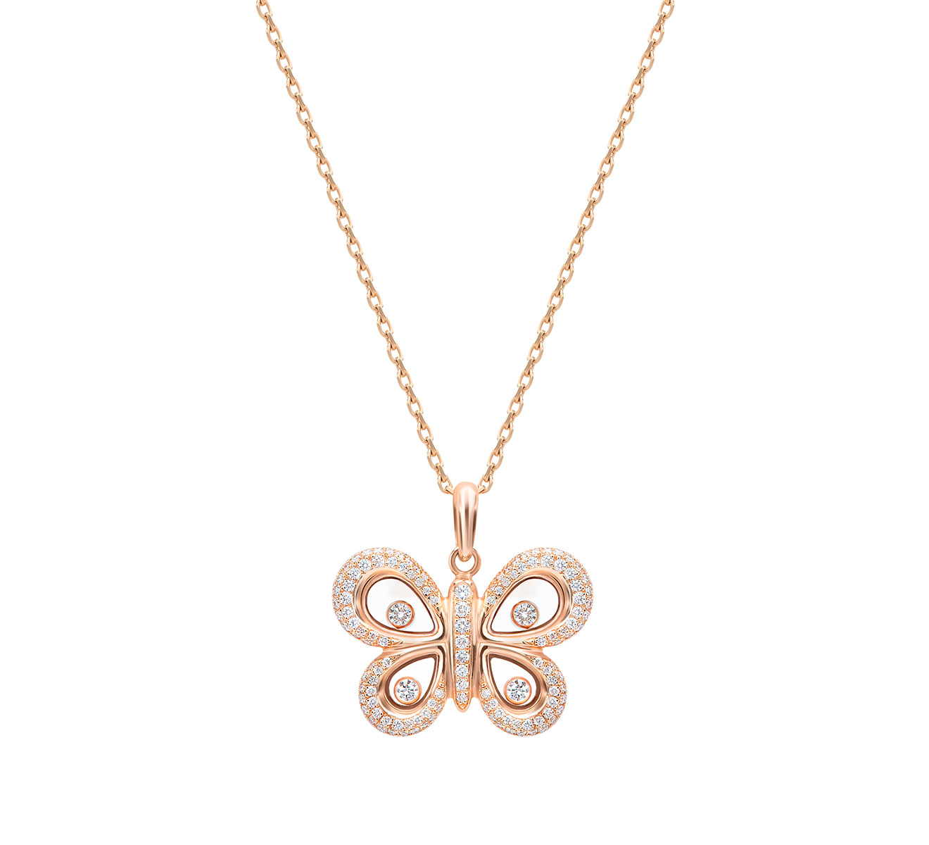 Кулон Happy Butterfly Chopard Happy Diamonds 799511-5301 - фото 1 – Mercury