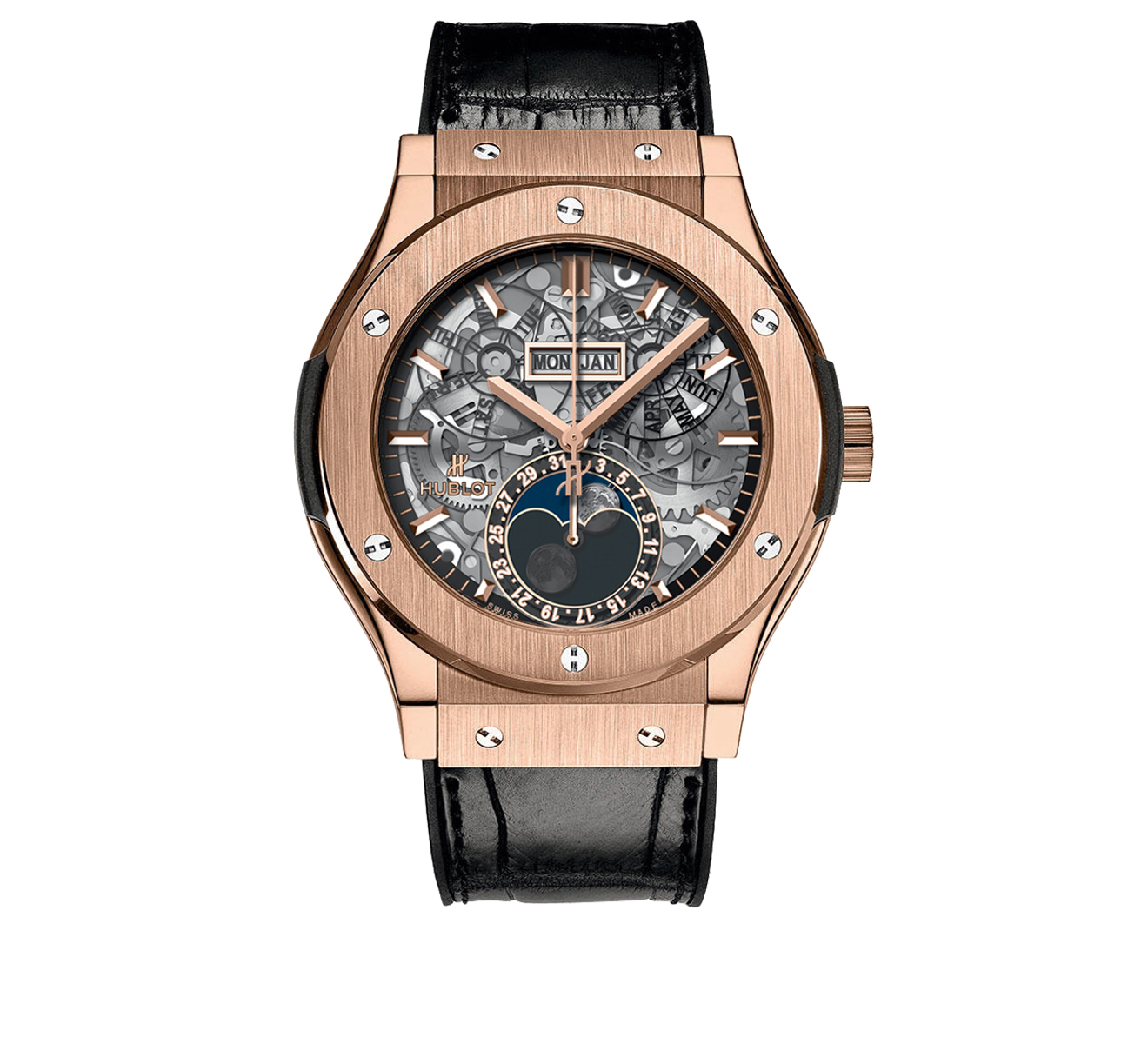 Часы Aerofusion Moonphase King Gold HUBLOT Classic Fusion 517.OX.0180.LR - фото 1 – Mercury