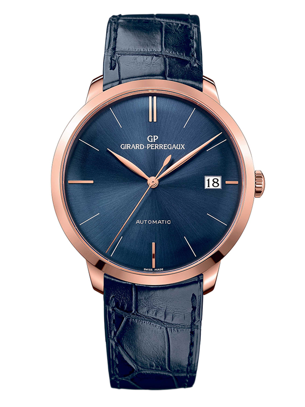 Часы Rose Gold Date Blue