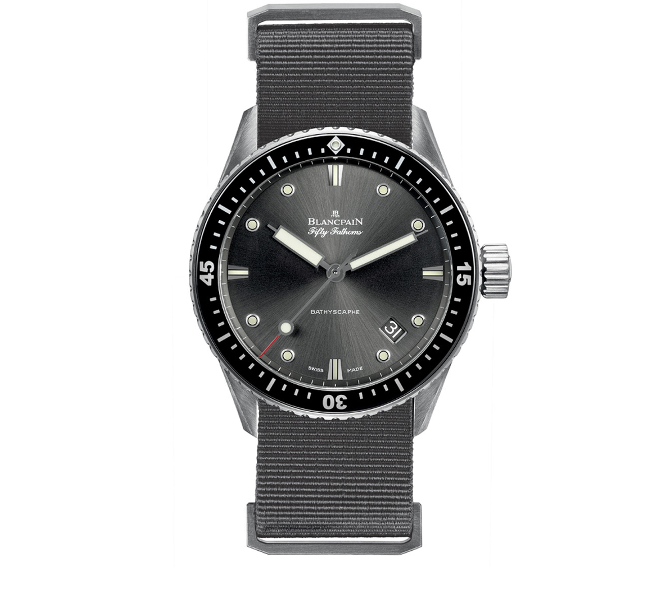 Часы Bathyscaphe Blancpain Fifty Fathoms 5000 1110 NABA - фото 1 – Mercury
