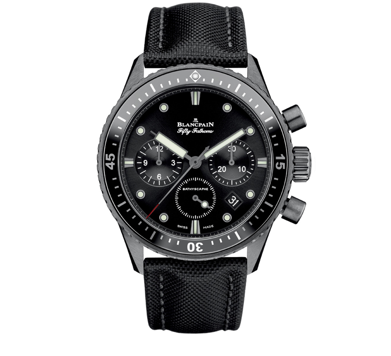 Часы Bathyscaphe Chronographe Flyback Blancpain Fifty Fathoms 5200 0130 B52A - фото 1 – Mercury