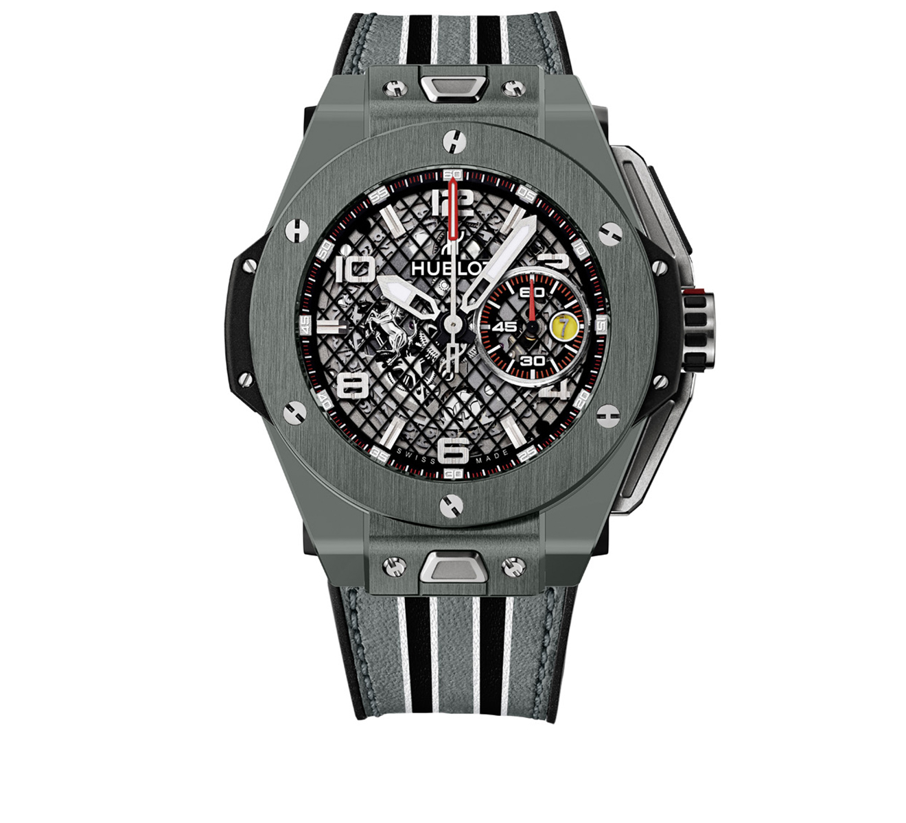 Часы Ferrari Speciale Grey Ceramic HUBLOT Big Bang 401.FX.1123.VR - фото 1 – Mercury