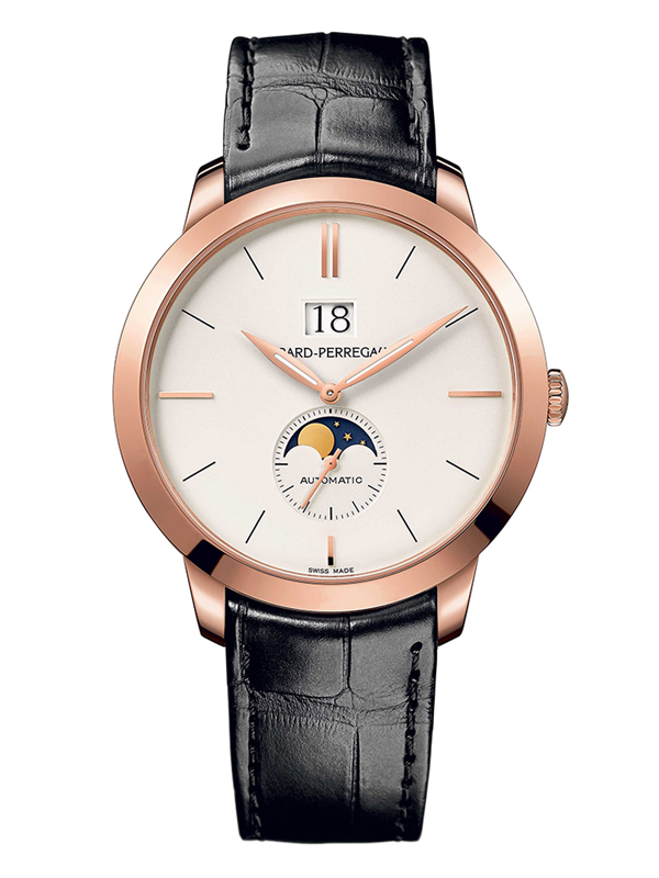 Часы Rose Gold Moon Phase White