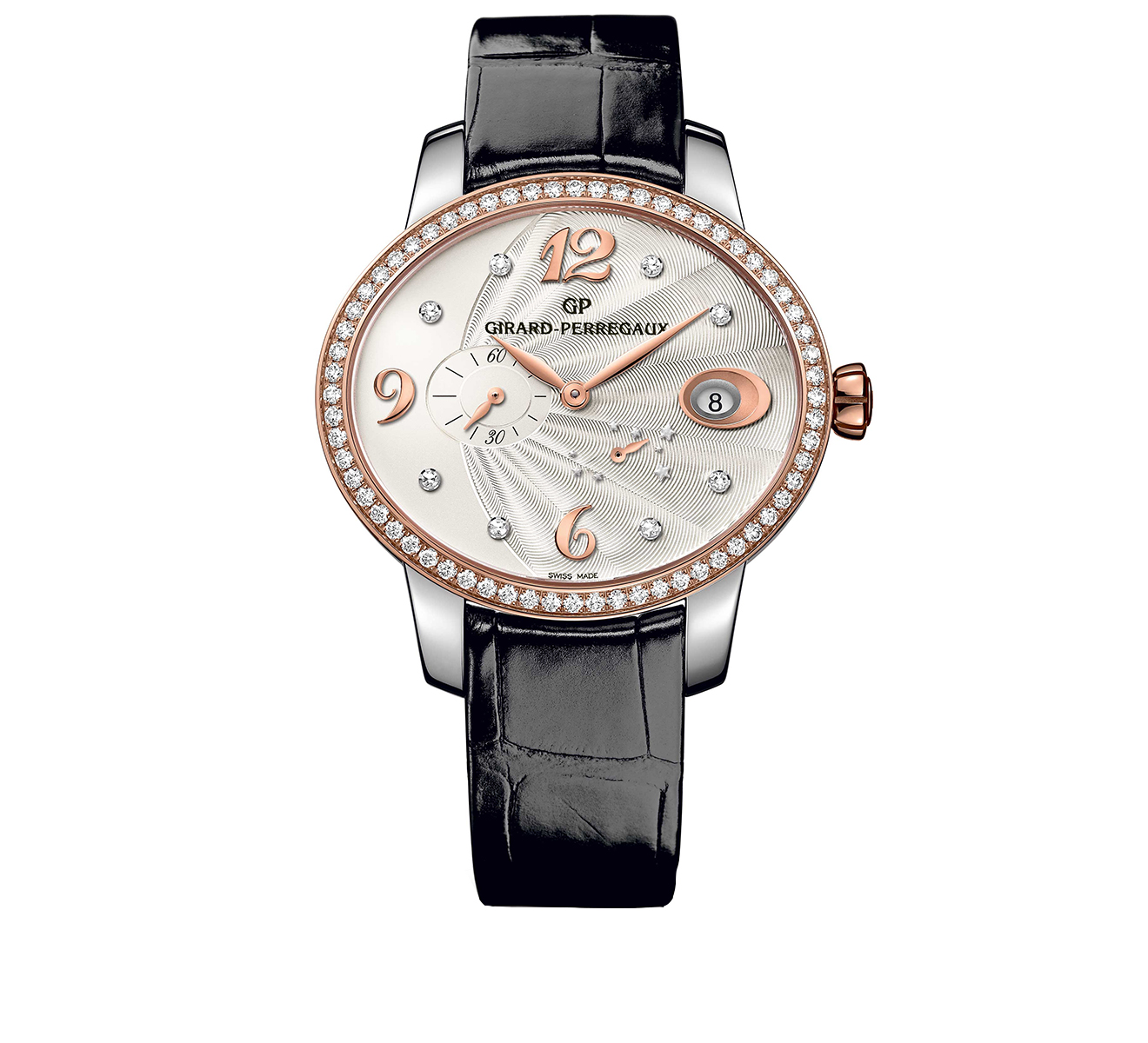 Часы Power Reserve Steel and Rose Gold GIRARD-PERREGAUX Cat's Eye 80486D56A162-CK6A - фото 1 – Mercury