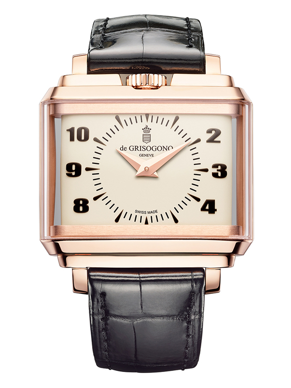 Часы Panoramic Rose Gold White