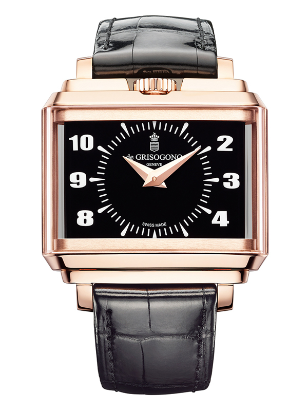 Часы Panoramic Rose Gold Black