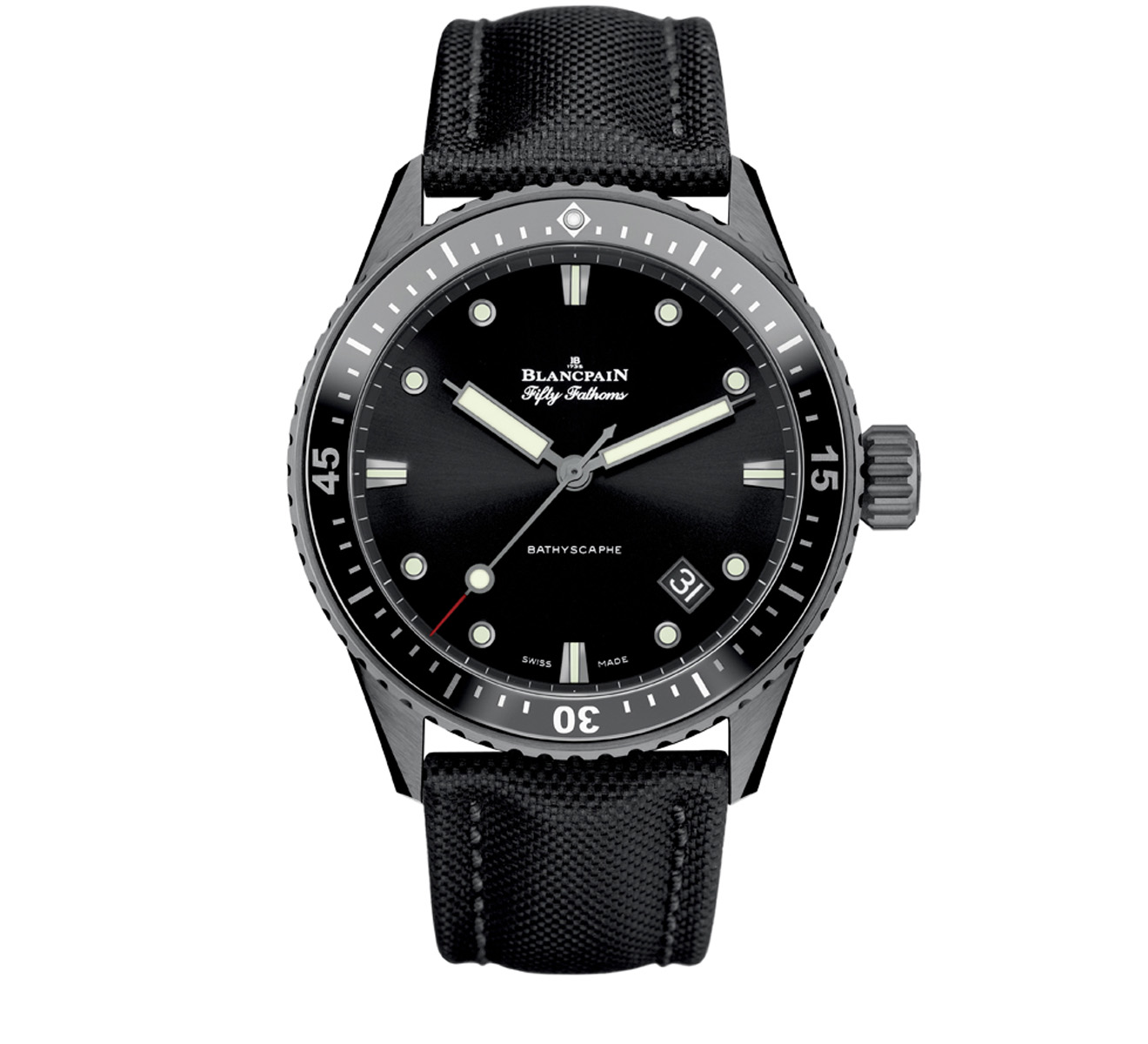 Часы Bathyscaphe Blancpain Fifty Fathoms 5000 0130 B52A - фото 1 – Mercury