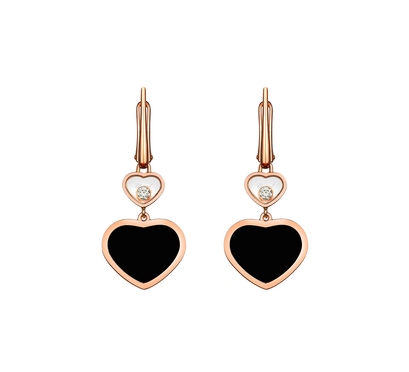 Серьги Happy Hearts Chopard Happy Diamonds 837482-5210 - фото 1 – Mercury