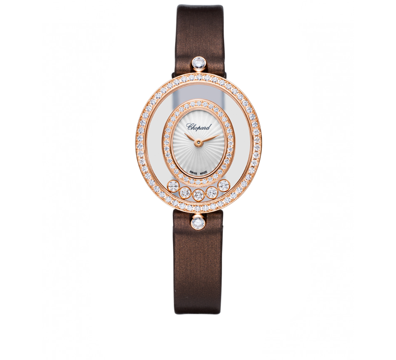 Часы Happy Diamonds Icons Oval Chopard Happy Diamonds 204292-5201 - фото 1 – Mercury