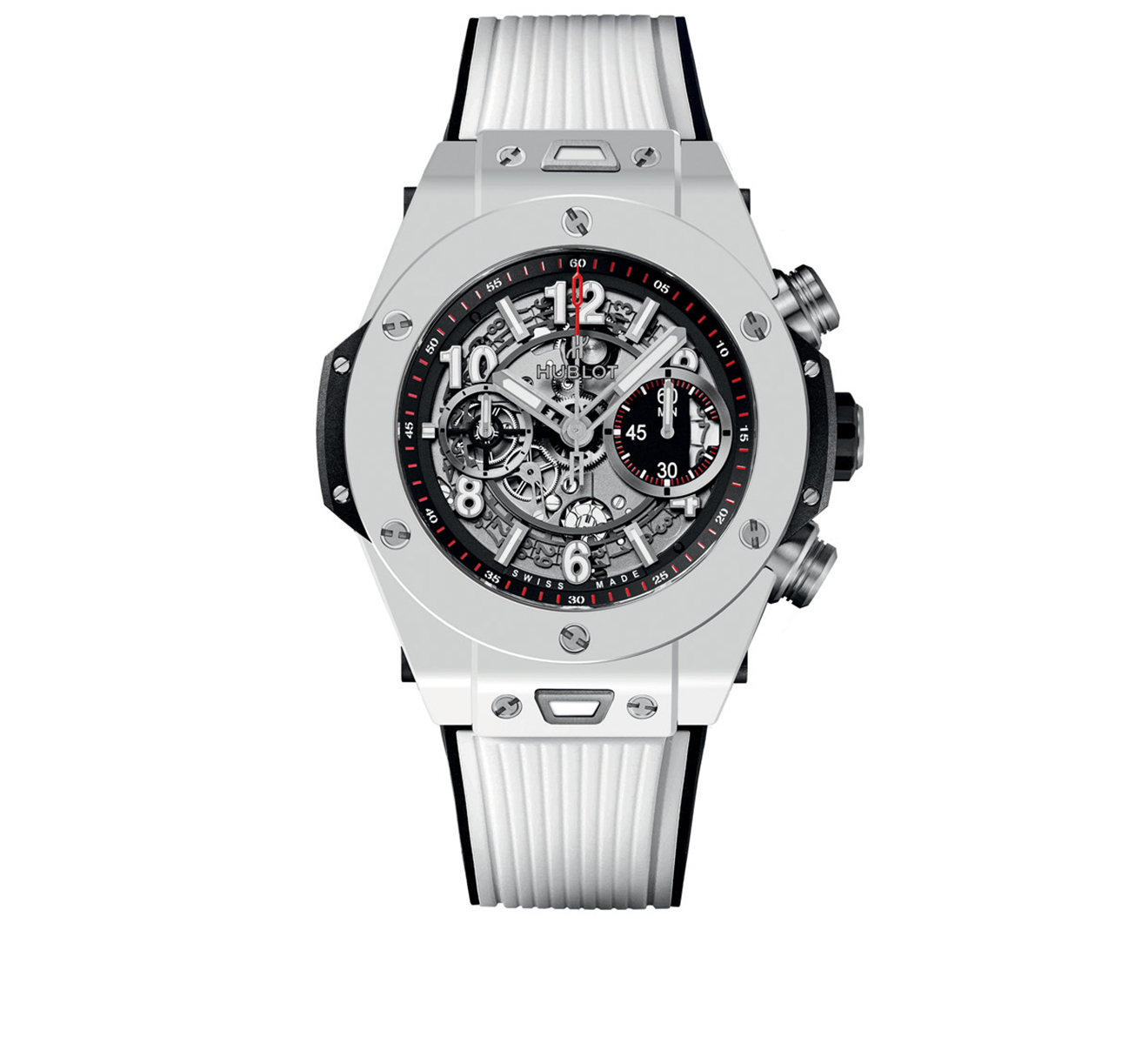 Часы Unico White Ceramic HUBLOT Big Bang 411.HX.1170.RX - фото 1 – Mercury