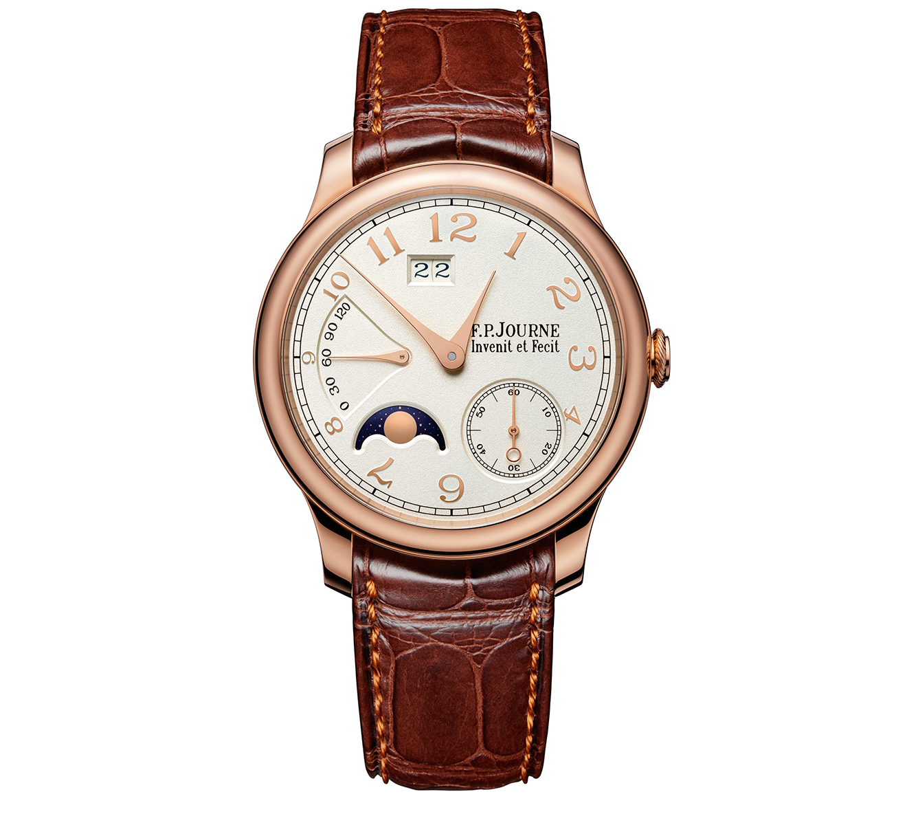 Часы Automatique Lune Rose Gold F.P.Journe Octa OCTA AUTOMATIQUE LUNE/RG/SILVER GOLD NUMERALS - фото 1 – Mercury