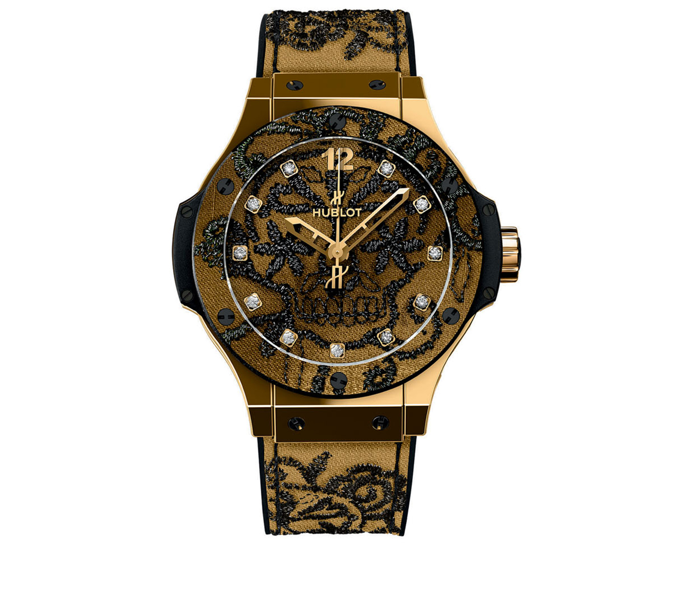 Часы Broderie Yellow Gold HUBLOT Big Bang 343.VX.6580.NR.BSK16 - фото 1 – Mercury