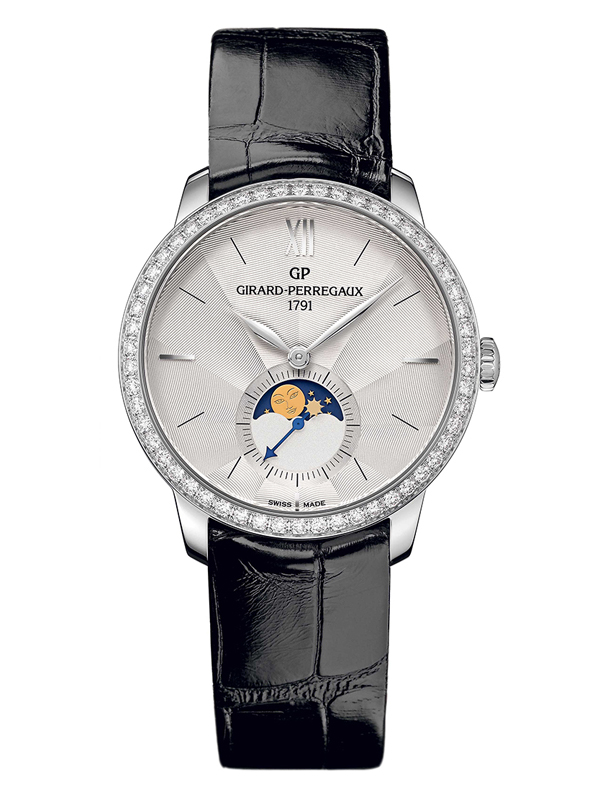 Часы Steel Moon Phase Silver Diamonds