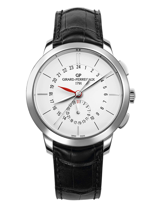 Часы Dual Time Steel White
