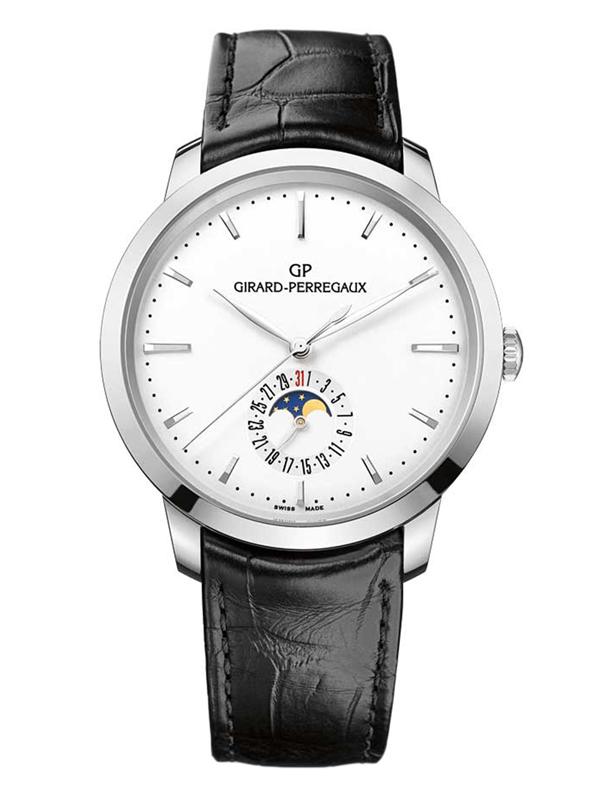 Часы Steel Moon Phase White
