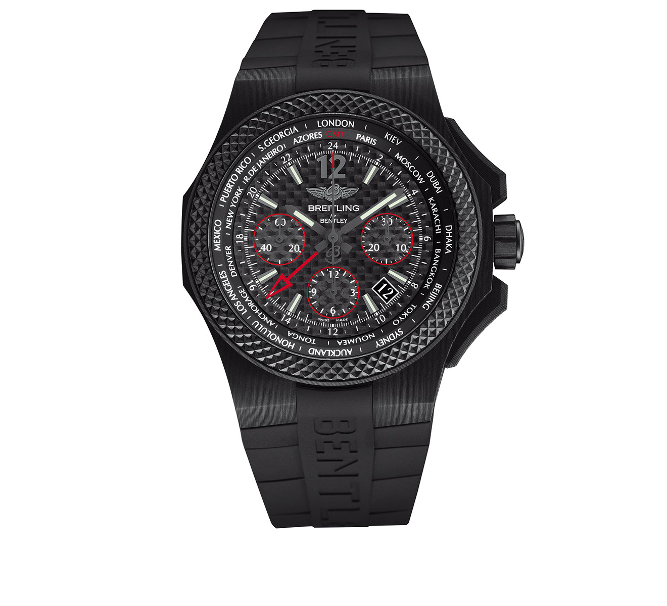 Часы Bentley B04 GMT Breitling Breitling for Bentley NB0434E5/BE94/232S - фото 1 – Mercury