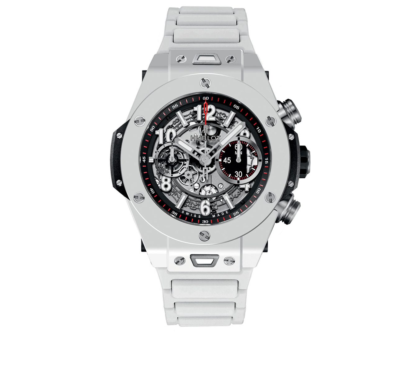 Часы Unico White Ceramic Bracelet HUBLOT Big Bang 411.HX.1170.HX - фото 1 – Mercury