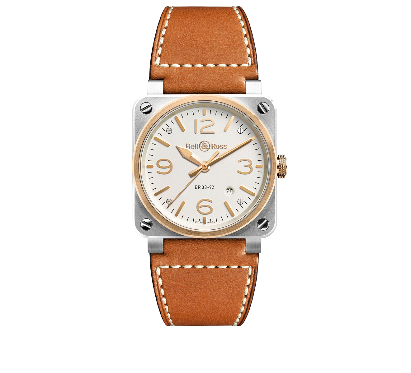 Часы Steel & Rose Gold Bell&Ross BR 03 BR0392-ST-PG/SCA - фото 1 – Mercury