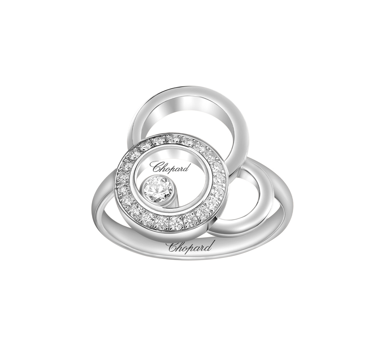 Кольцо Happy Dreams Chopard Happy Diamonds 829769-1010 - фото 2 – Mercury
