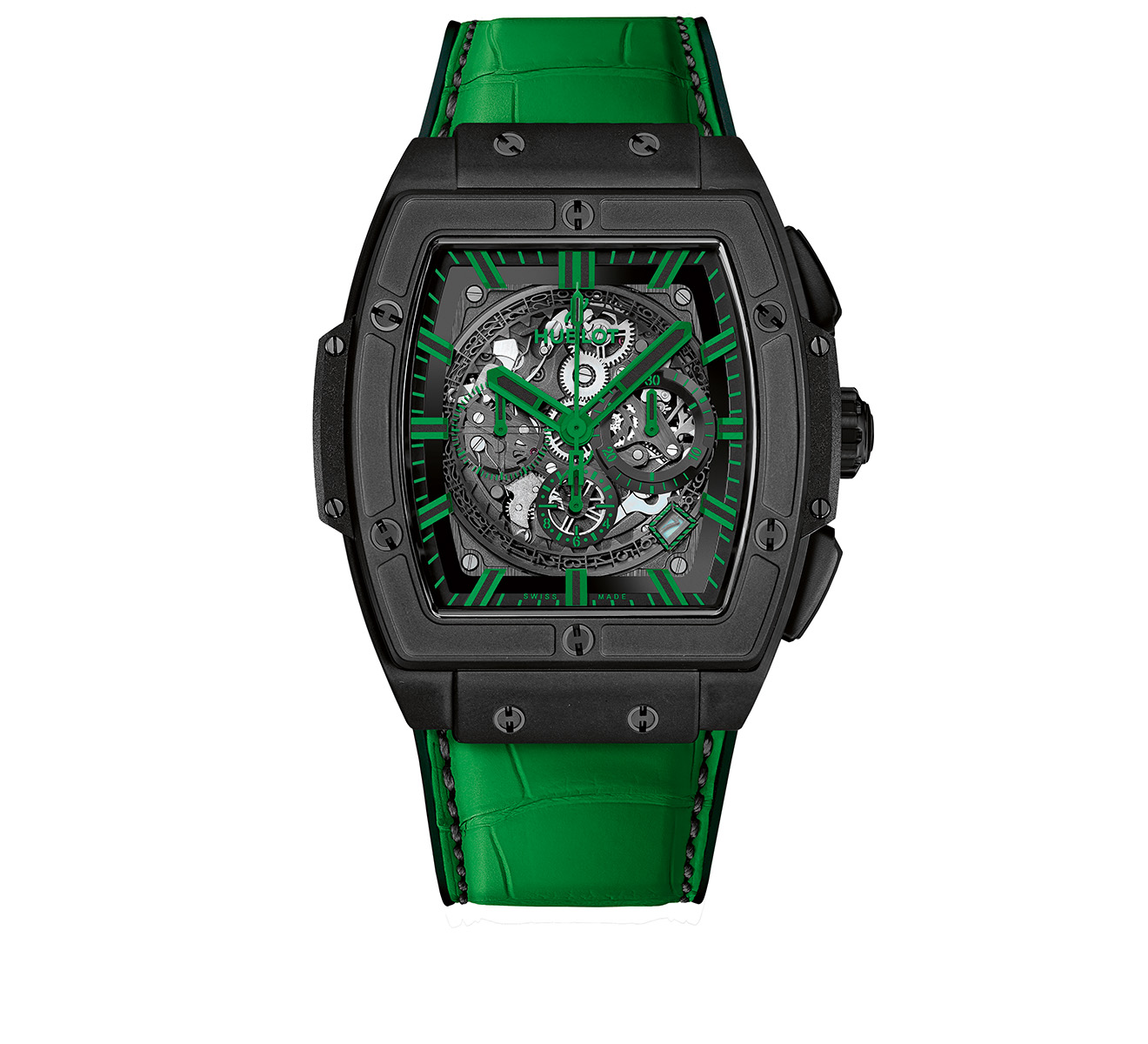 Часы All Black Green HUBLOT Spirit of Big Bang 601.CG.0190.LR - фото 1 – Mercury