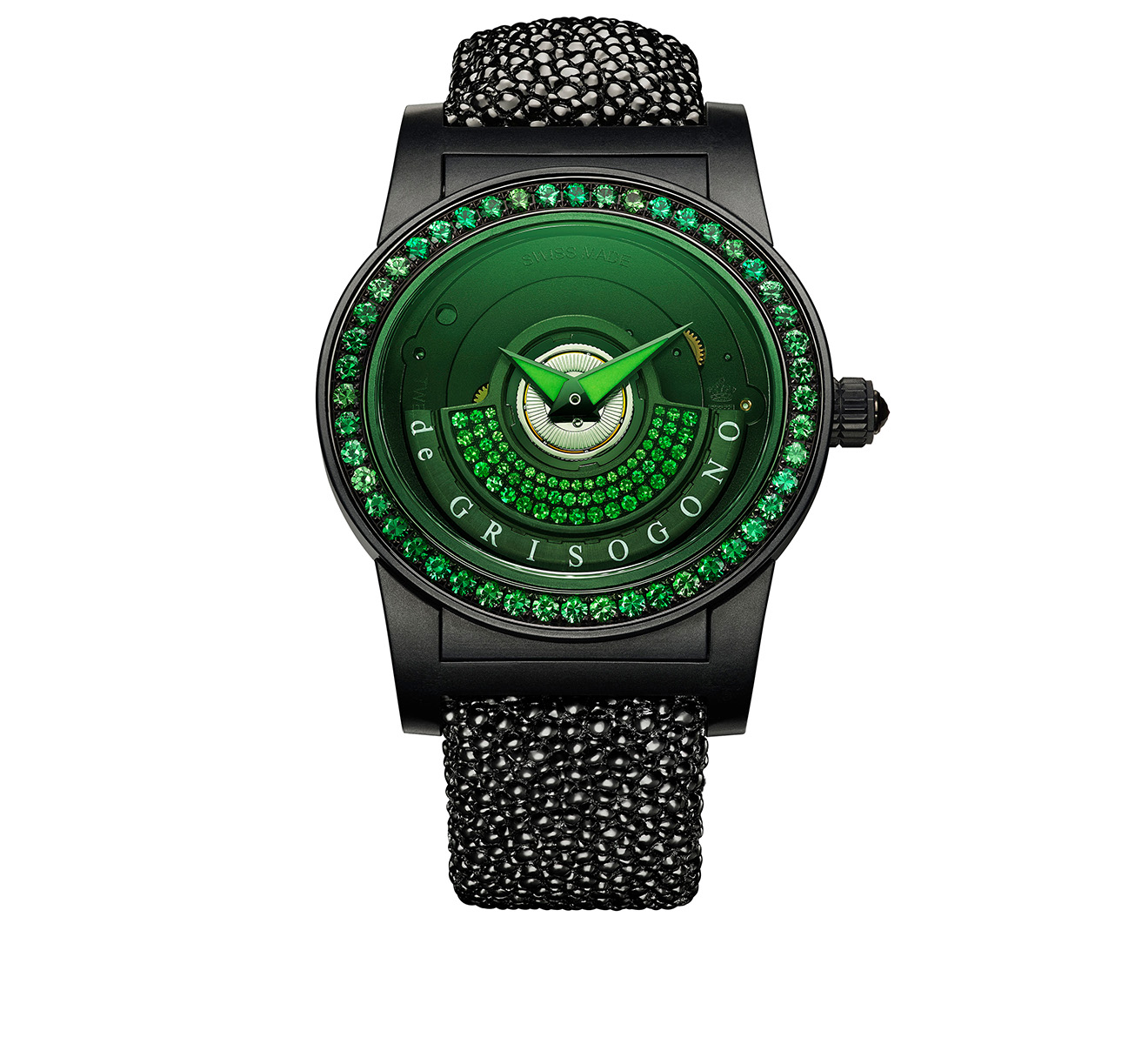 Часы Green Black de GRISOGONO Tondo By Night TONDO BY NIGHT S13 GV - фото 1 – Mercury