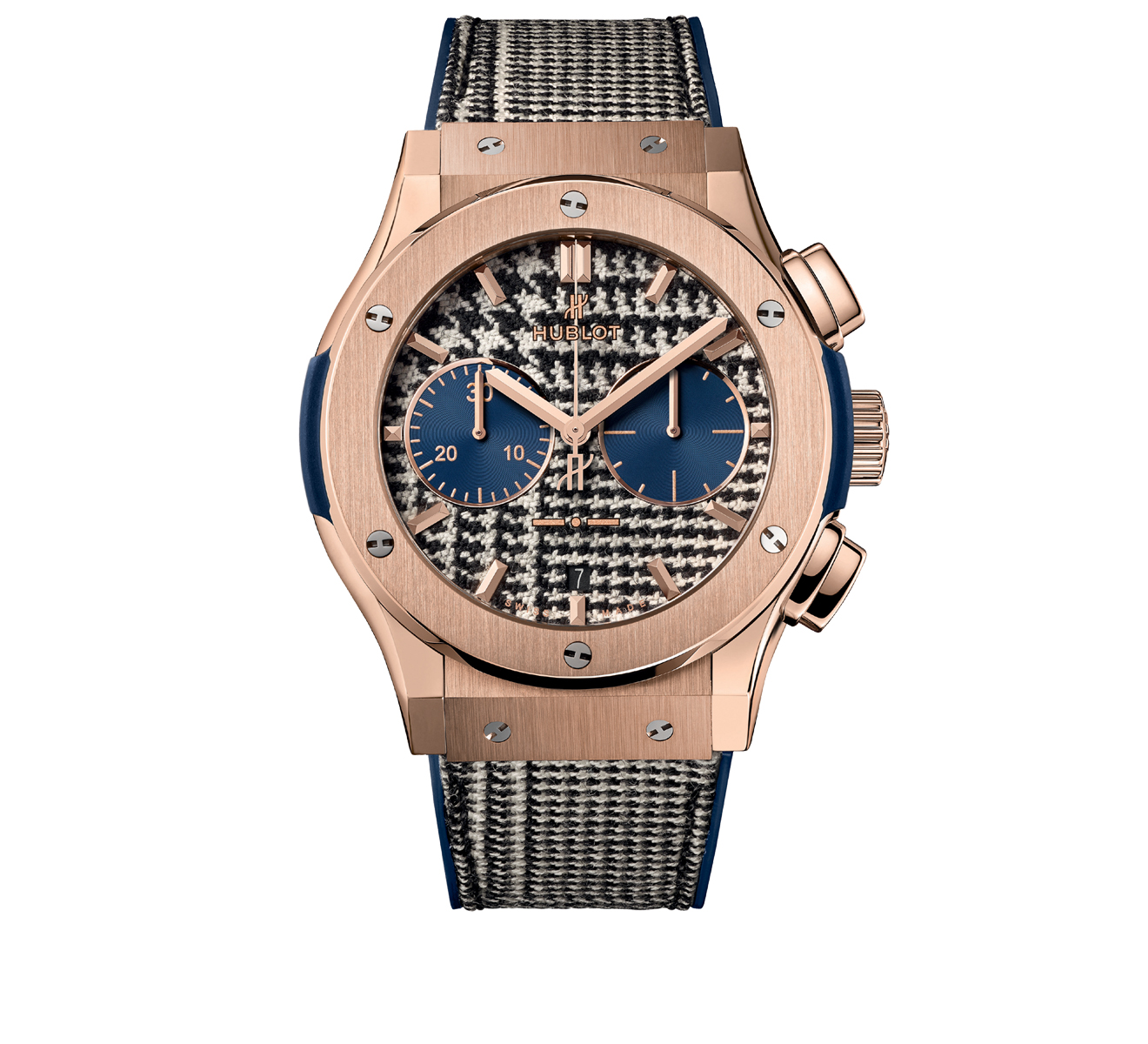 Часы Italia Independent Pieds-de-Poule King Gold HUBLOT Classic Fusion 521.OX.2704.NR.ITI17 - фото 1 – Mercury