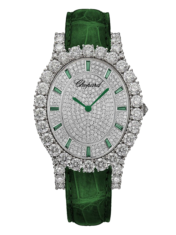 Часы White Gold Pave Green