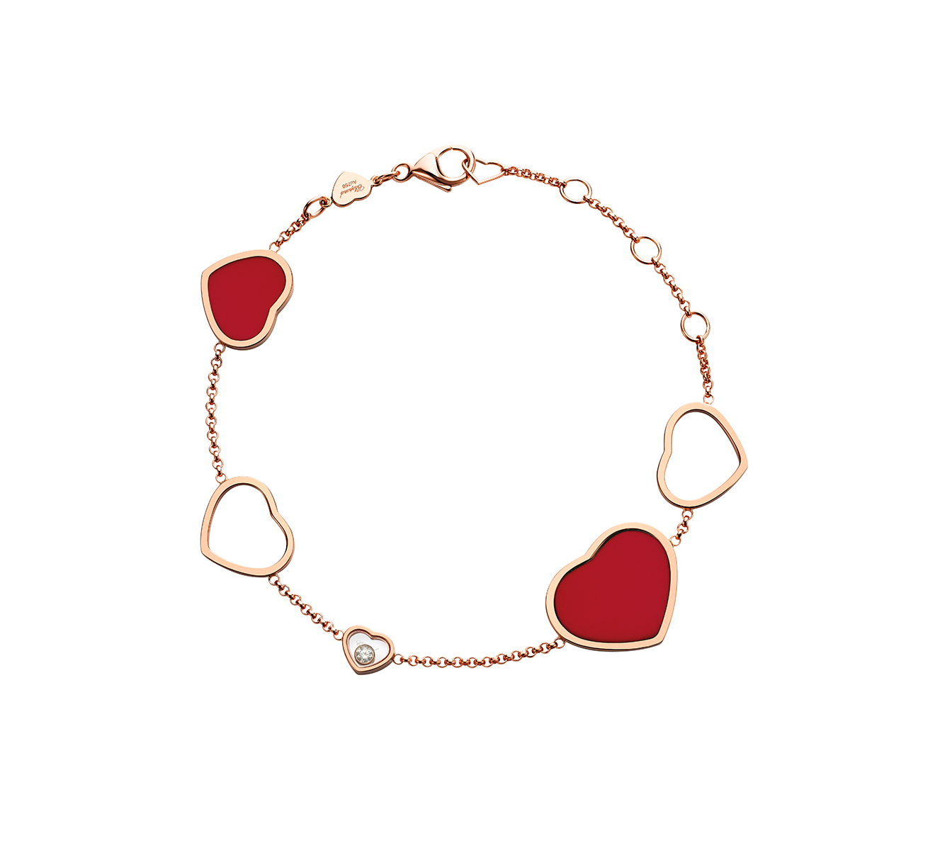 Браслет Happy Hearts Chopard Happy Diamonds 857482-5081 - фото 1 – Mercury